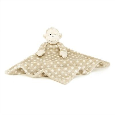 """monty monkey sootherjellycat a 11"""" x 11"""" baby cozy"""