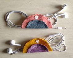 Diy Felt Earbud Holder Felt Diy Felt Crafts Upcycle Sewing