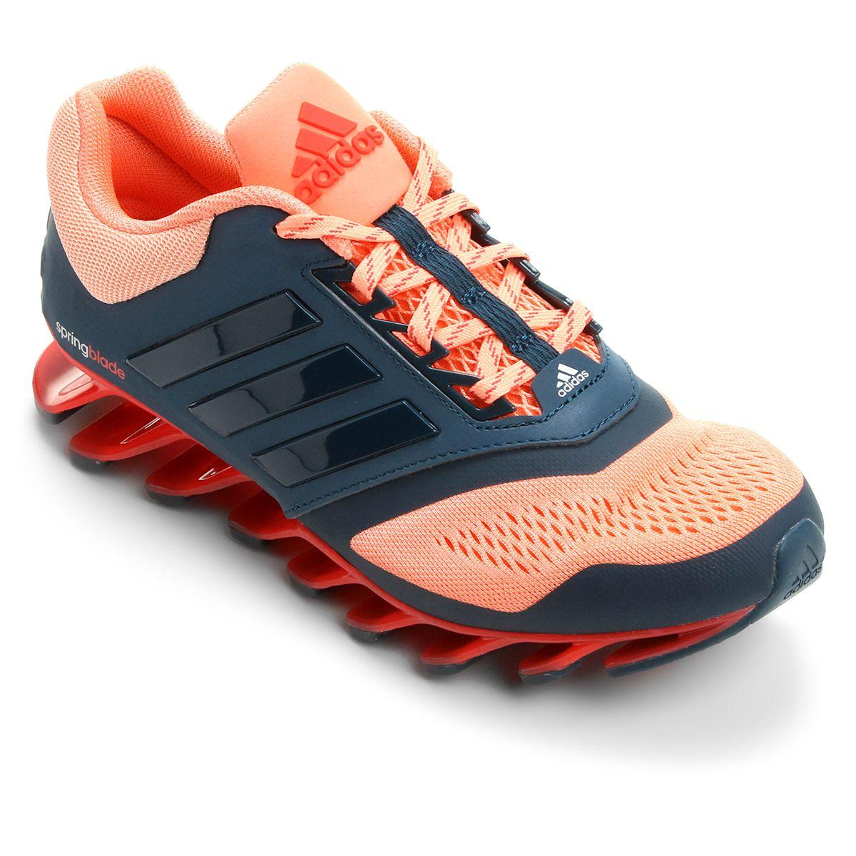 Tênis Adidas Springblade Drive 3 Feminino - Salmão e Azul