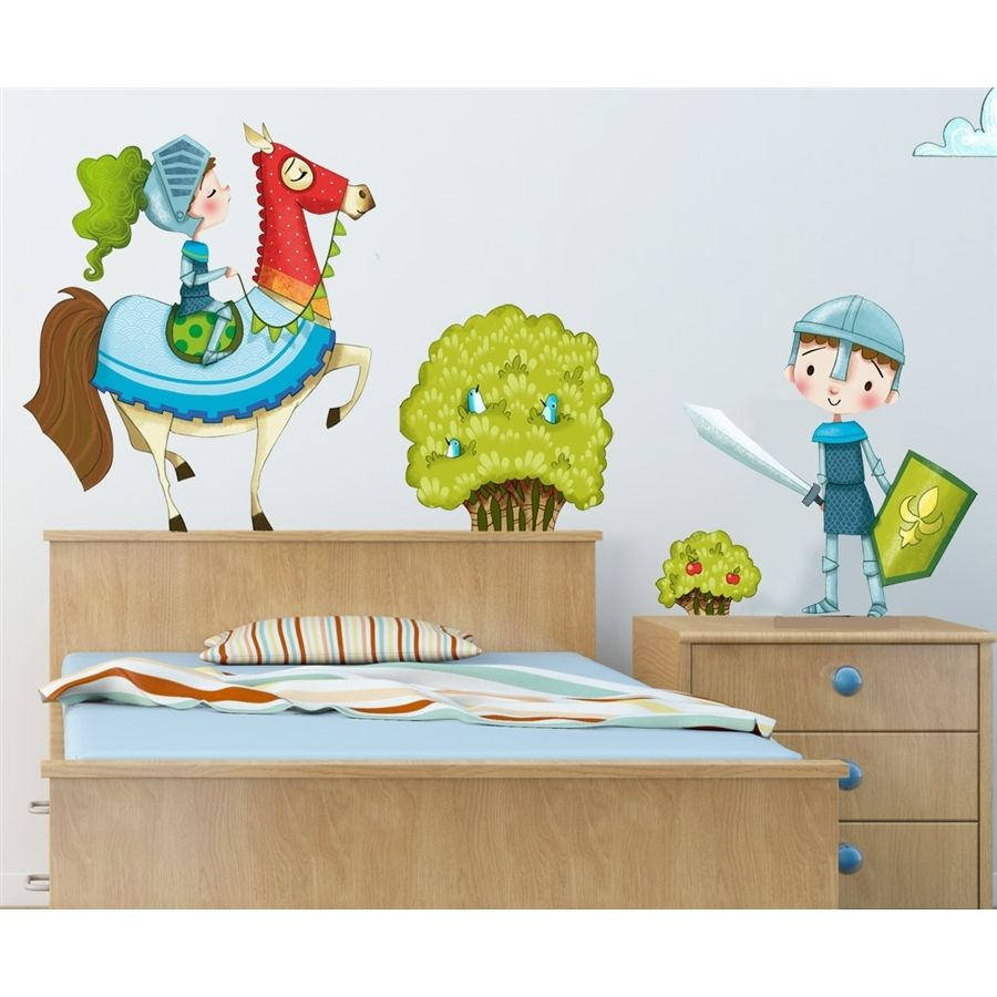 sticker enfant les chevaliers chambre chevalier. Black Bedroom Furniture Sets. Home Design Ideas
