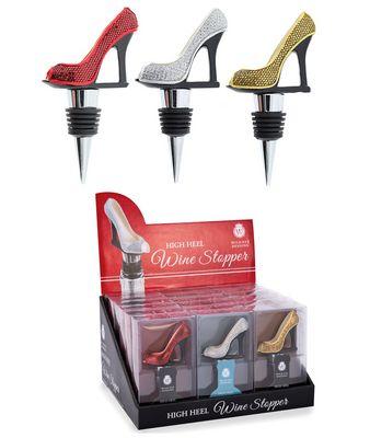 New Bottle Stopper Handcraft High Heel Shoe Wine Bottle Stopper Black Color