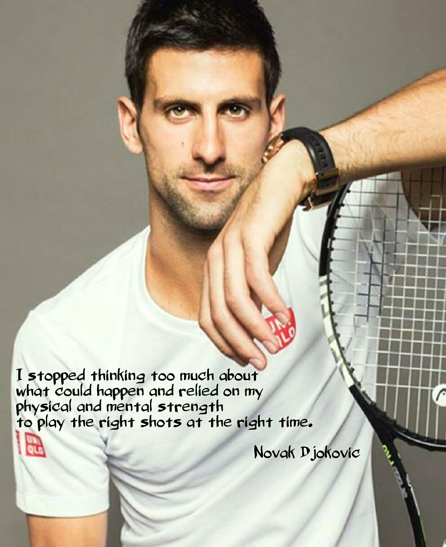 Inspirational Novak Djokovic Words Novak Djokovic Tennis Tennis Workout