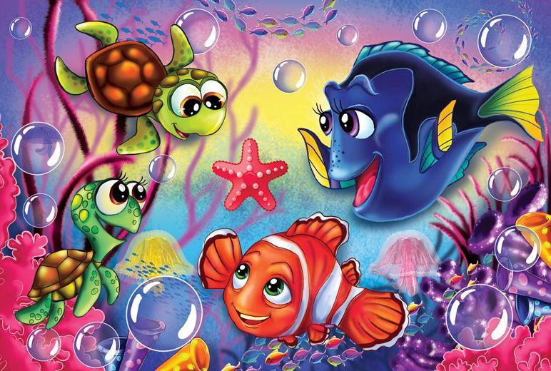 нарисовать прикольных рыбок в подводном мире нашли