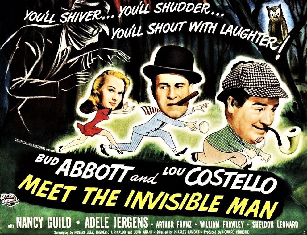Abbott And Costello Meet The Invisible Man Abbott And Costello Meet The Invisible Man 1951 Invisible Man Abbott And Costello Sheldon Leonard