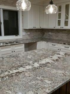 Image Result For Ganache Granite Kitchen White Cabinets