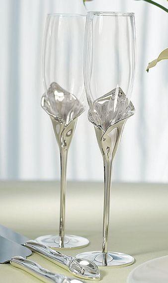 Copas Para Bodas Home Wedding Champagne Flutes Calla
