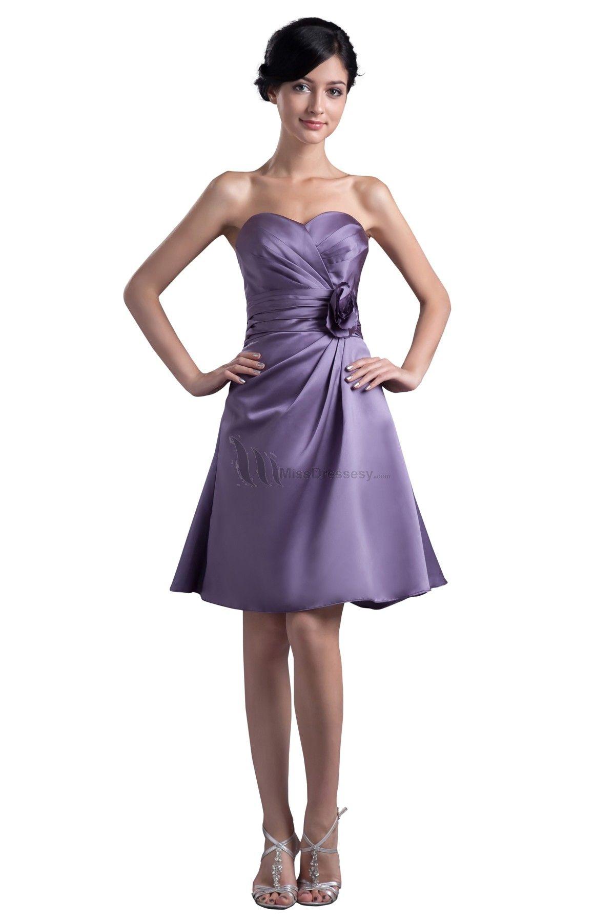 Buy Sweetheart Purple Elegant Short Bridesmaid Dress / Wedding Guest ...