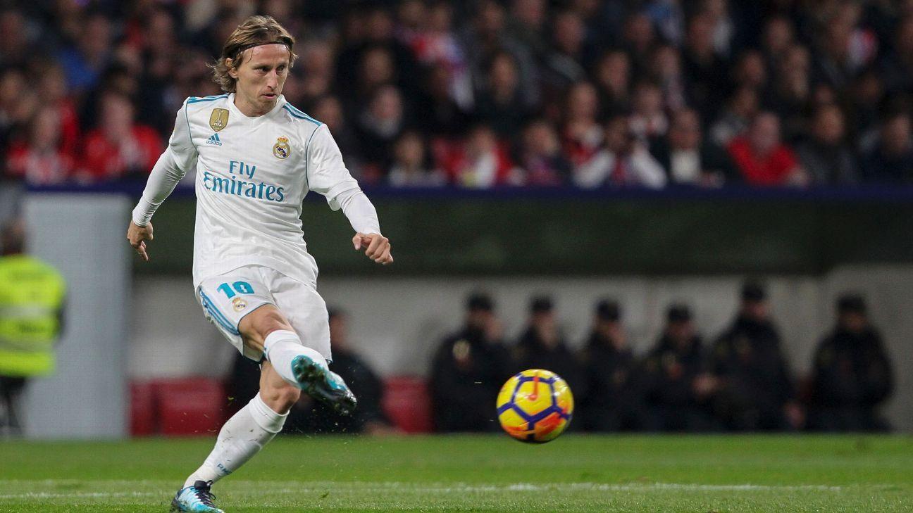 Modric di skuat Real Madrid UEFA Super Cup di tengah