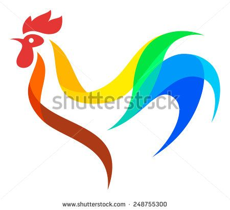 Stylized Rooster - stock vector