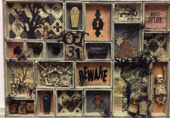 Halloween Decor Shadow Box Printer Tray Collage Miniatures Tim Holtz Configurations #printerstray This shadow box / printer tray is made with a Tim Holtz Configurations print tray. The edges of each box are distressed using Tim Holtz #printerstray Halloween Decor Shadow Box Printer Tray Collage Miniatures Tim Holtz Configurations #printerstray This shadow box / printer tray is made with a Tim Holtz Configurations print tray. The edges of each box are distressed using Tim Holtz #printertray Hallo #printerstray