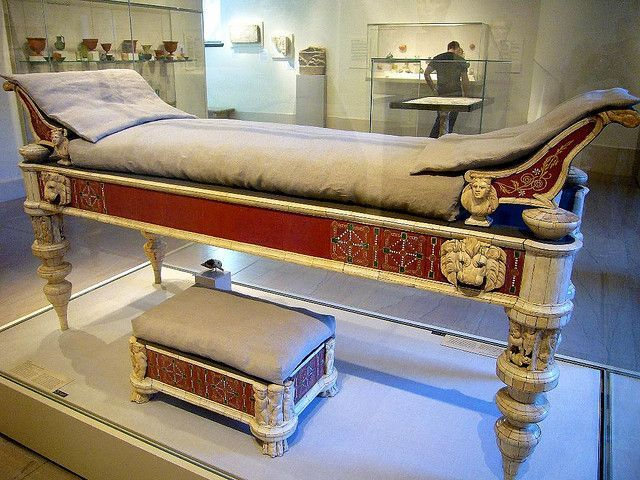 Roman Couch . These Pieces Of Furniture Come From The Imperial Villa Of  Lucius Verus (