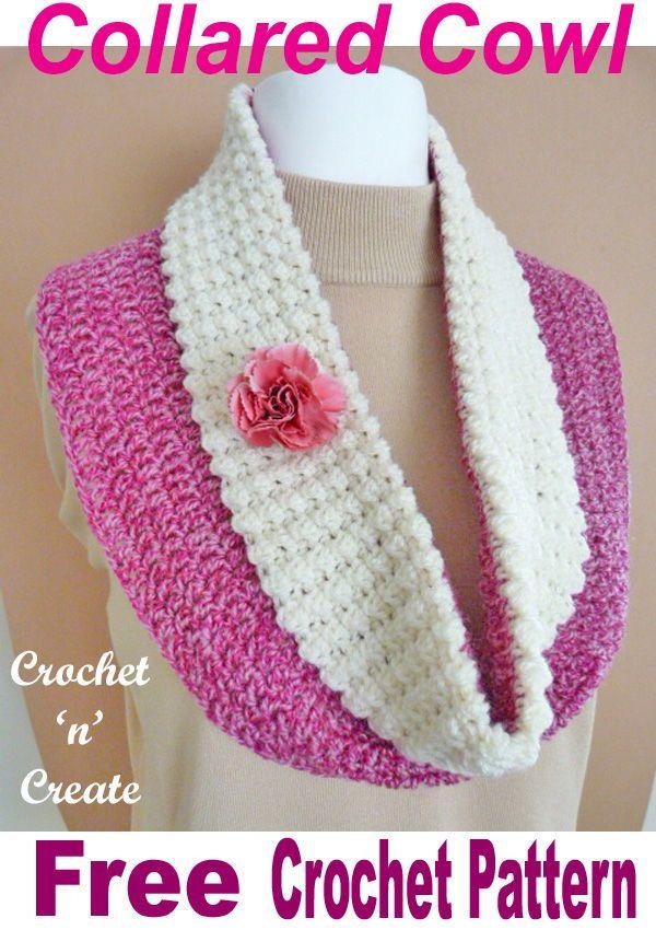 Collared Cowl Free Crochet Pattern in 2018 | Crochet | Pinterest