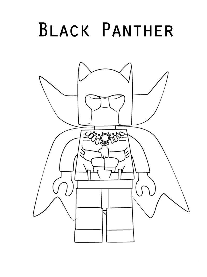Lego Black Panther Coloring Page Dengan Gambar