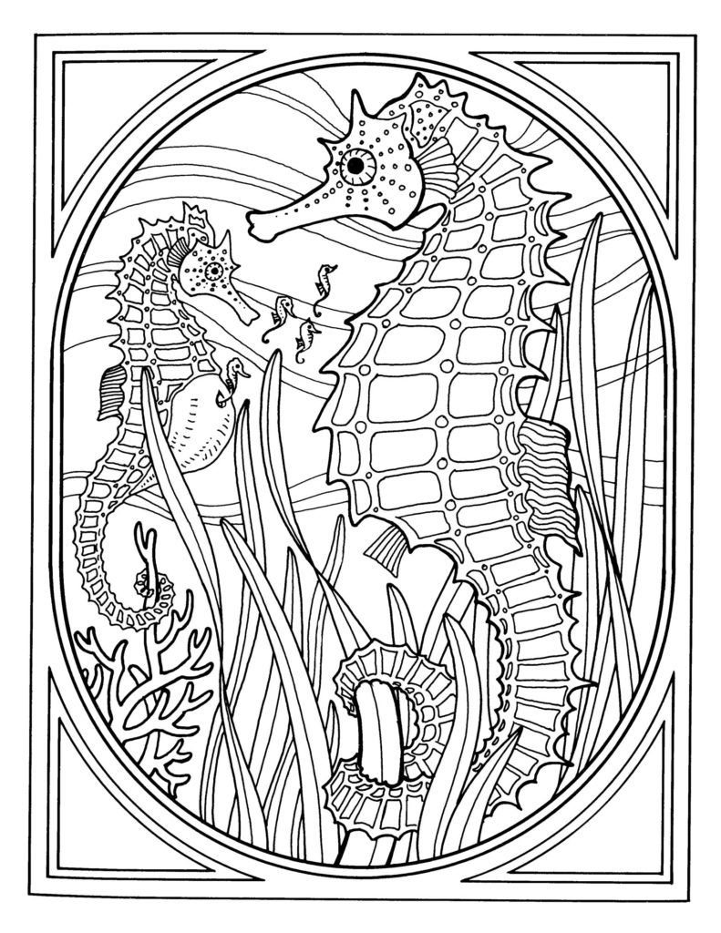 Coloring Pages Exquisite Ocean Coloring Pages For Adults Best