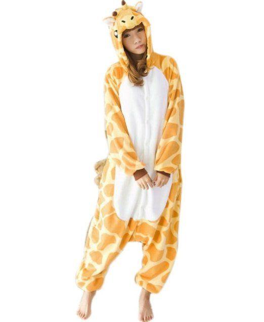 Amazon.com Triline Kigurumi Pajamas Anime Costume Adult Animal Onesie Giraffe Cosplay Size M  sc 1 st  Pinterest & Amazon.com: Triline Kigurumi Pajamas Anime Costume Adult Animal ...