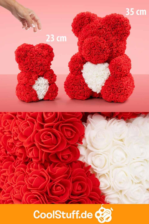 Rosenbar Rosen Teddy Teddy Aus Rosen 23 35 Cm Geburtstag Blumen Romantische Geschenke Valentinstag Dekoration