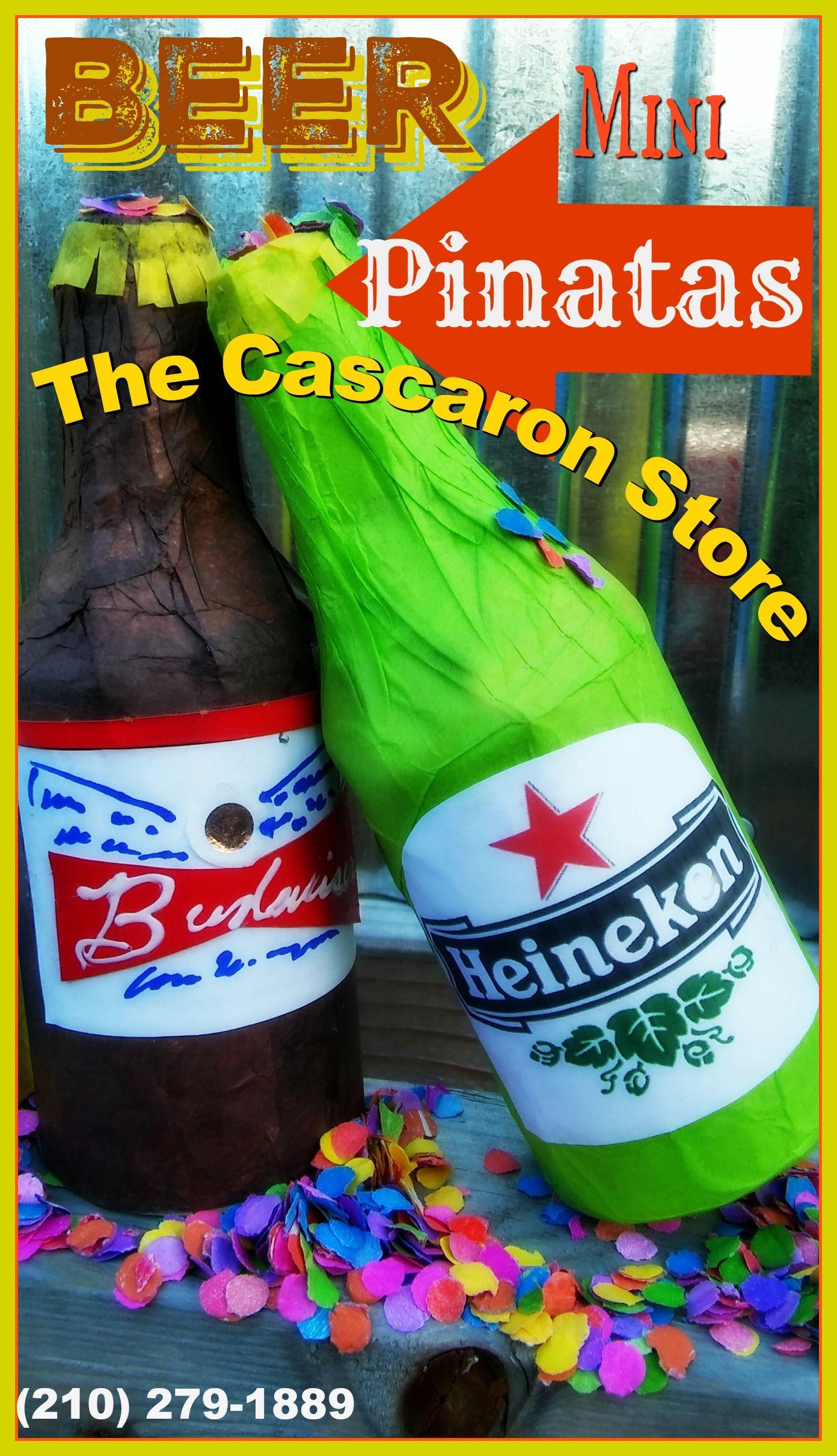 Beer Mini Pinatas, fiesta theme party decorations, fiesta