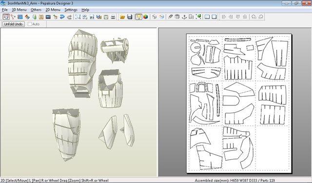 DancinFool   Iron Man Mark 3 Pepakura Foam Templates