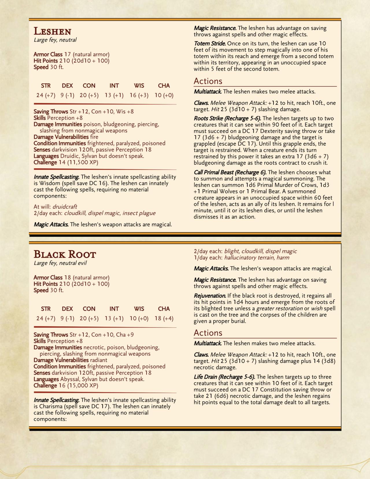 DnD 5e Homebrew — StoneStrix Monsters: Beast of Ill Omen
