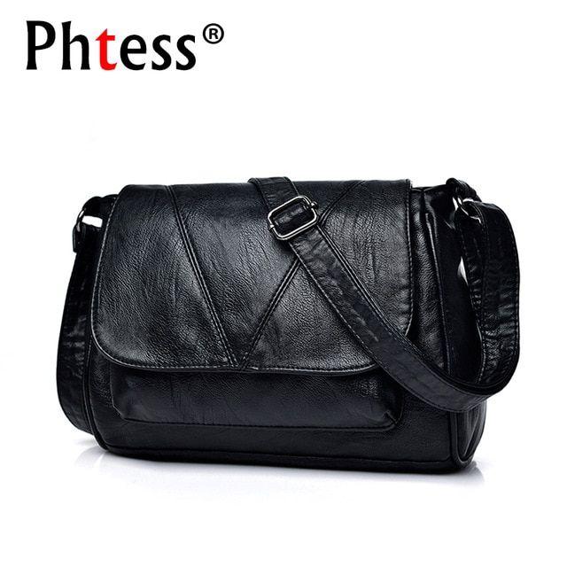 d501213083d4 2018 Women Messenger Bags Crossbody Soft Leather Shoulder Female Bag Flap Bolsa  Feminina Designer Handbags High Quality Brand Review