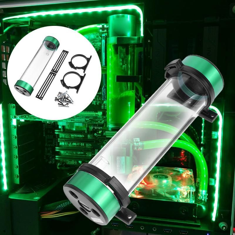 234mm Cylinder Reservoir Water Tank G1 4 Thread Kit Water Cooling
