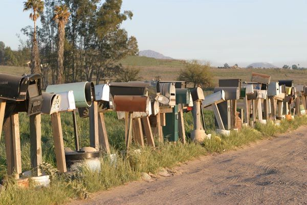 Mailboxes -- Roadside Letterboxes in a rural area.