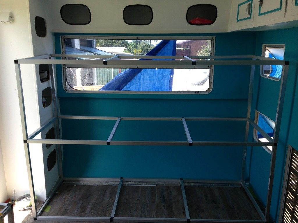 Building Triple Caravan Bunks Australia Adventure Transportation Pinterest Caravan Bunks