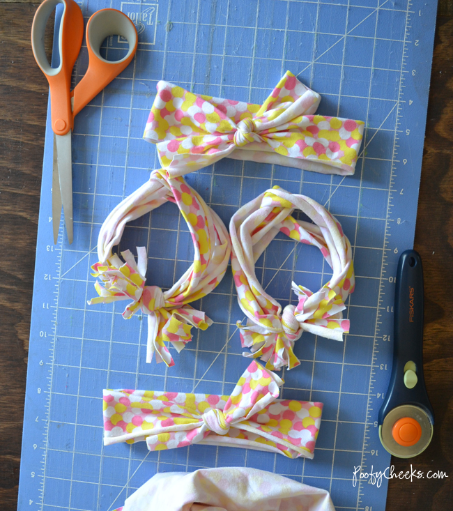 how to make baby headbands out of t-shirts