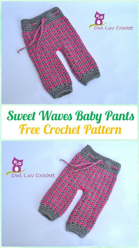 Crochet Sweet Waves Baby Pants Free Pattern - Crochet Baby Pants ...
