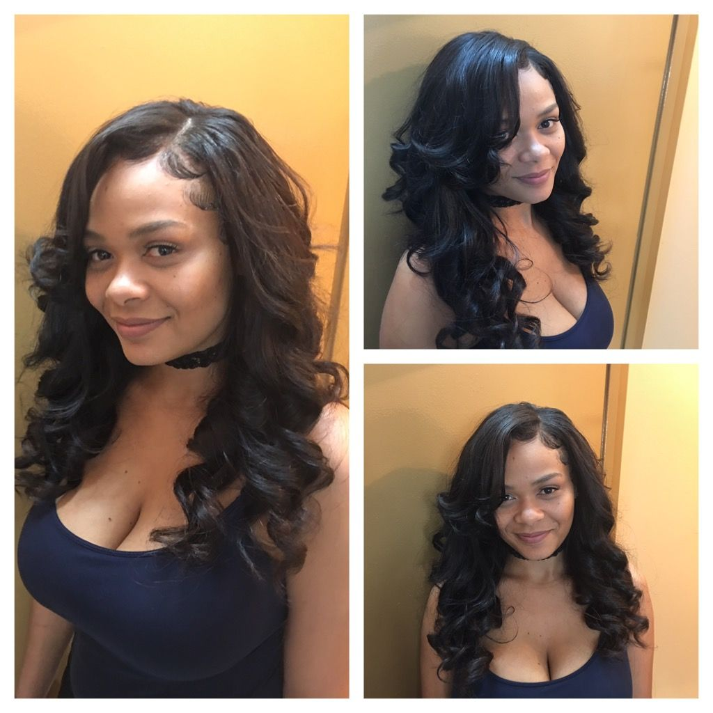 partial sew in side part brazilian virgin body wave 7a by