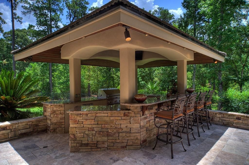 Rustic Patio With Gazebo Outdoor Kitchen Outdoor Kitchen Design Rustic Patio Patio