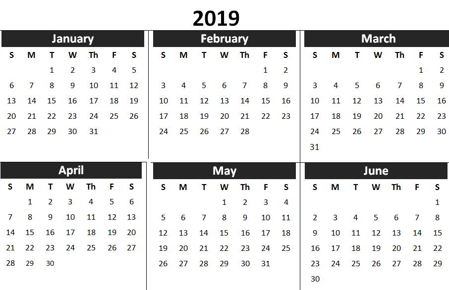 2019 1st half year calendar printable calendars calendar wallpaper 2019 calendar 6 months