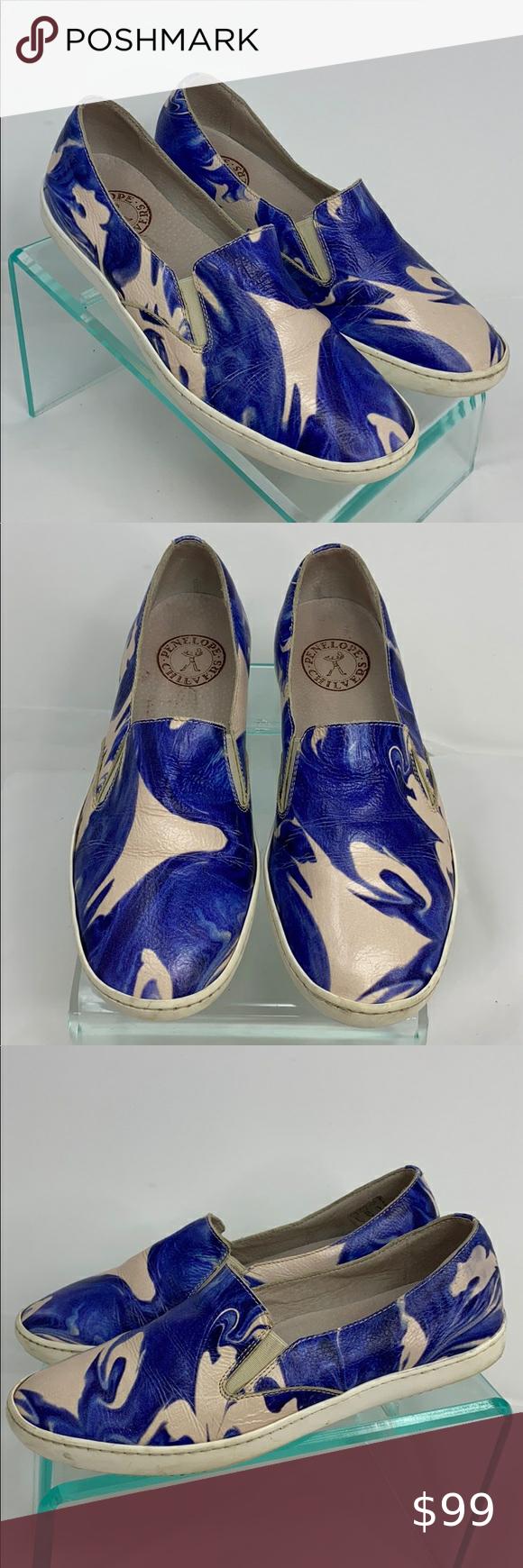 Penelope Chilvers Sz 39 Leather Slip On Sneaker