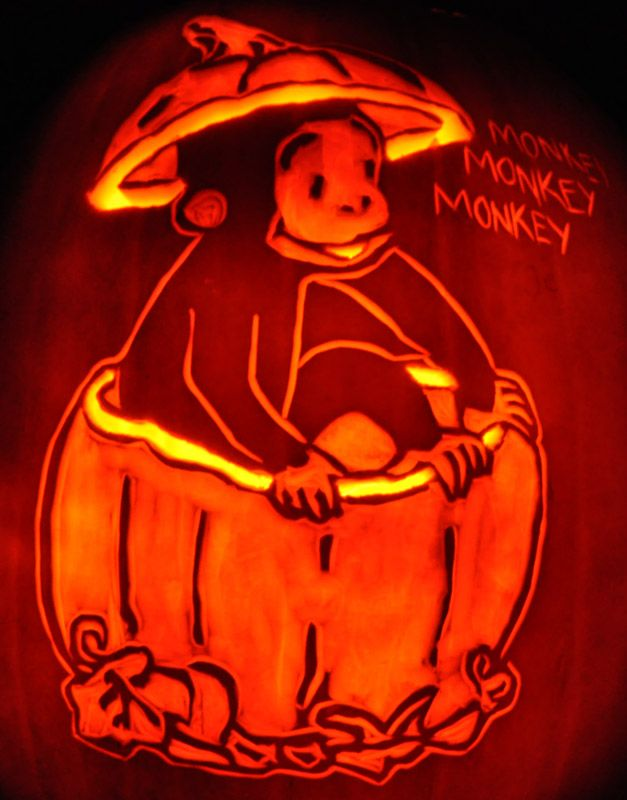 Monkey Pumpkin Carving Ideas Pumpkin Carving Ideas Pinterest