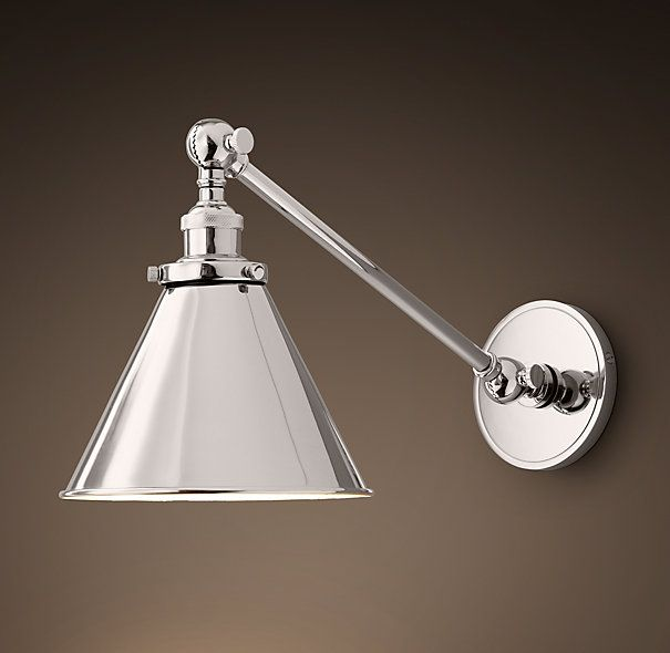 Wall Light Kitchen Sink: Restoration Hardware. Either This Or The Articulated One