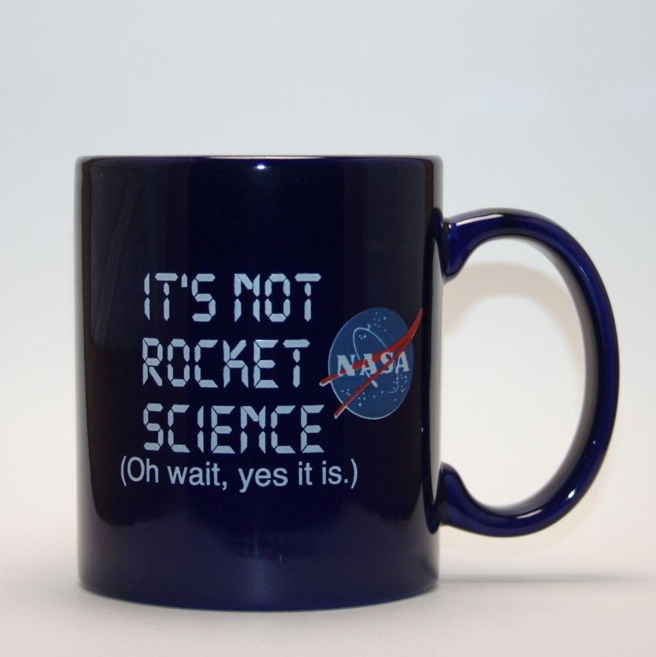 "NASA ""IT'S NOT ROCKET SCIENCE"" Coffee Mug Cup Johnson ..."