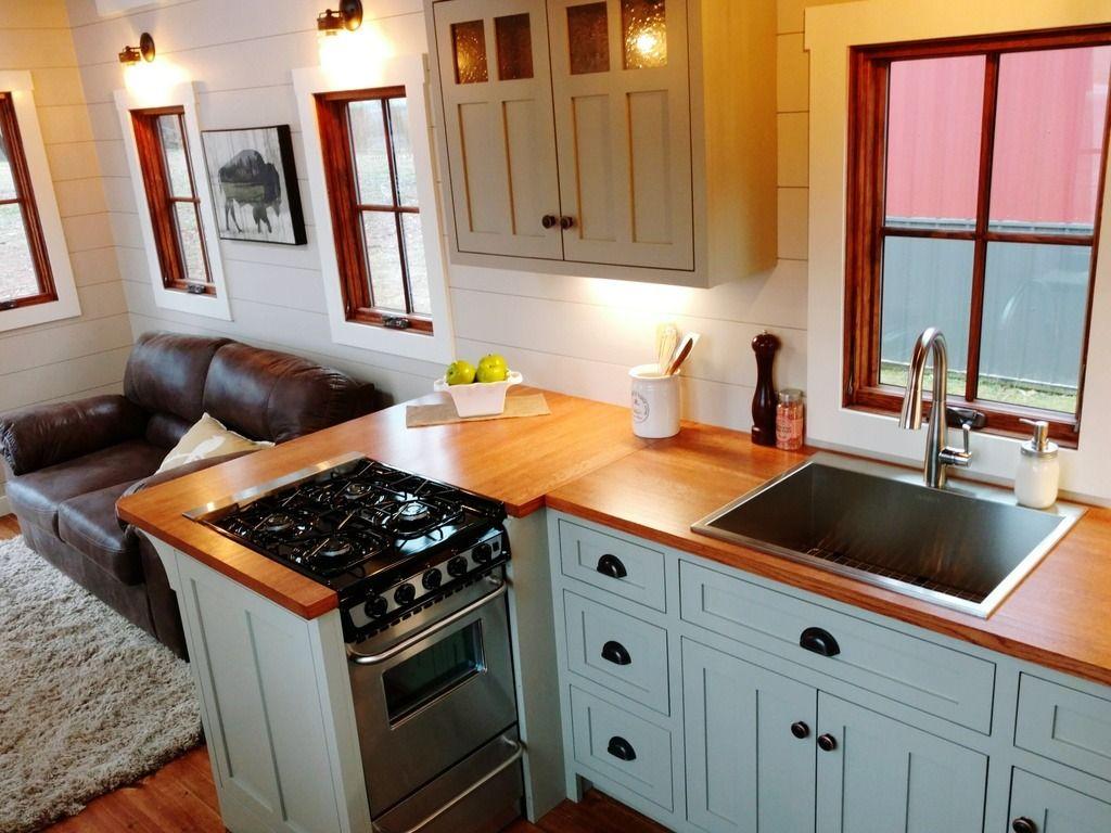 Luxury farmhouse by timbercraft tiny houses pinterest keuken