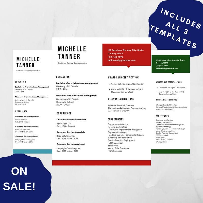 Professional Resume Template 06, CV Template for MS Word, Creative - modern resume templates word