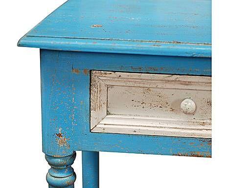LEYENDAS INDIAS: Consola en madera de pino – azul | Hogar ...
