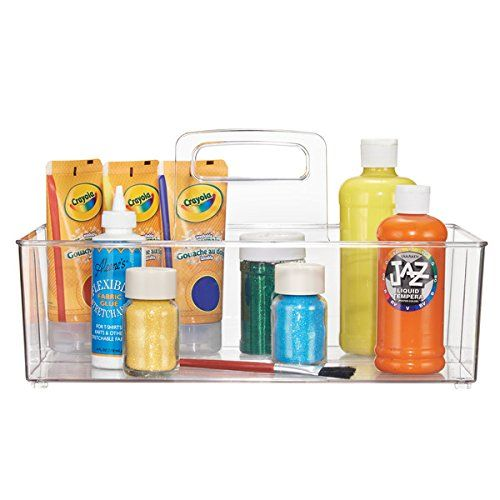 MDesign Craft And Sewing Supplies Storage Organizer Tote ... Https://www