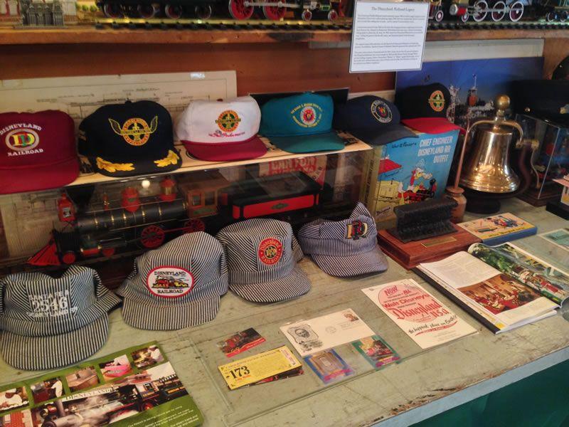Railroad memorabilia sits on display.