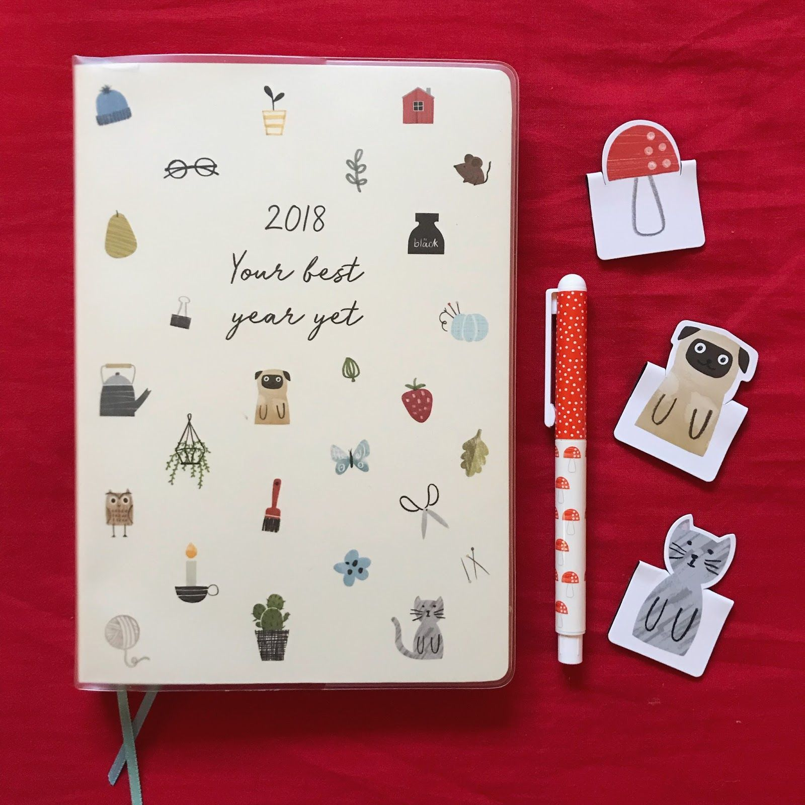 Hello 2018! Kikki K Diary, Planner, Illustrations, Cute, Kawaii