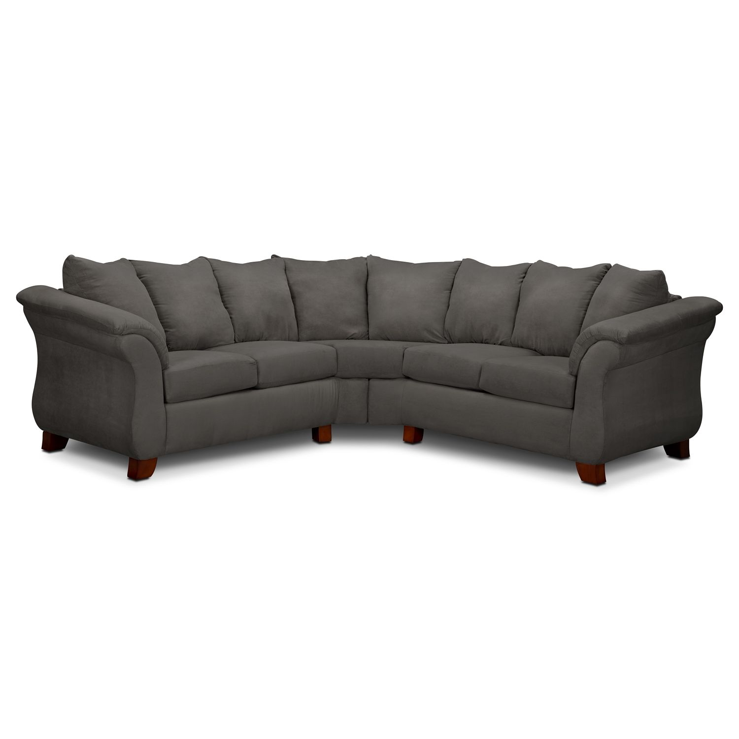 Living Room Furniture - Adrian Graphite II 2 Pc. Sectional...Value ...