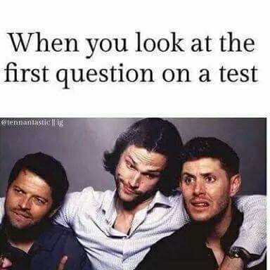 I don't know which face I would be making. Jared's or Jensen's?
