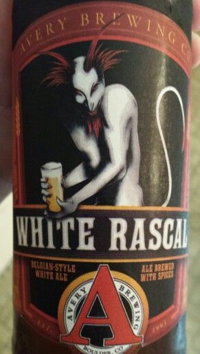 Avery Brewing Co. White Rascal. Belgian-style white ale. 5.6% Alc. It's OK...