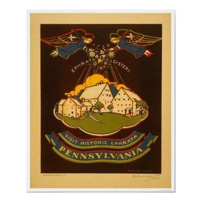 Ephrata Pennsylvania 1938 Wpa Poster Zazzle Com With Images Wpa Posters