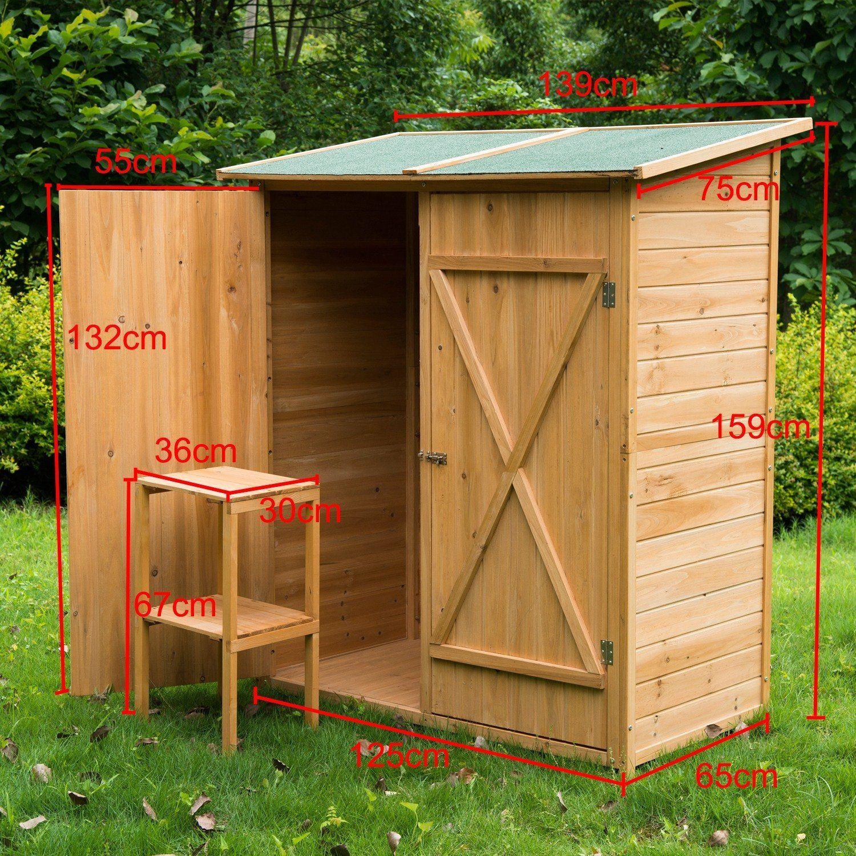 Gabinete caseta herramientas jardin 165x140x75 cm for Amazon muebles terraza