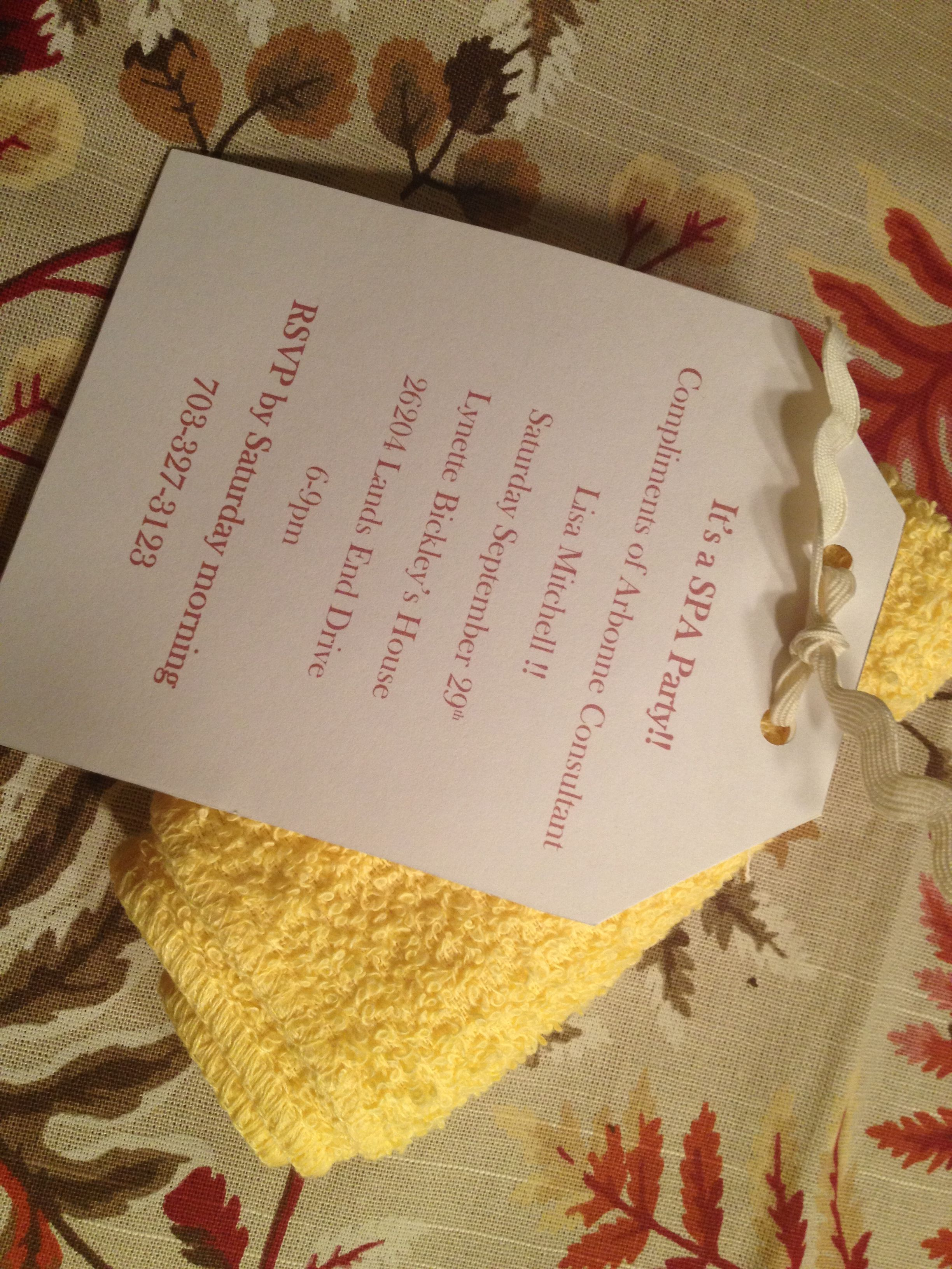 Great Party Invitation Idea From One Of My Hostesses And