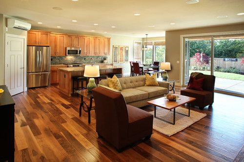 Small Open Plan Kitchen Living Room Design Pictures Remodel Decor And Ideas