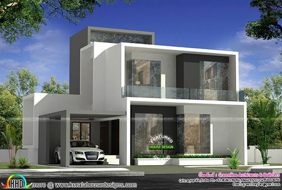 Awesome Contemporary Style 2750 Sq Ft Home Kerala House Design Duplex House Design Contemporary House Exterior